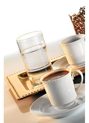 Kütahya Porselen Zümrüt Kahve Fincan Takımı Renkli